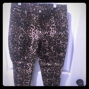 Jennifer Lopez Skinny Leopard Jeans